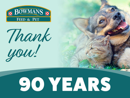 Thank You for the support of our customers and community for 90 years!